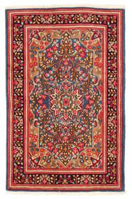 Kerman Covor 117X184 Orientale Lucrat Manual Ruginiu/Bej-Crem (Lână, Persia/Iran)