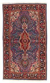 Kerman Covor 118X208 Orientale Lucrat Manual Roșu-Închis/Gri Închis (Lână, Persia/Iran)