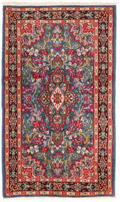 Kerman Covor 118X202 Orientale Lucrat Manual Roșu-Închis/Bej (Lână, Persia/Iran)