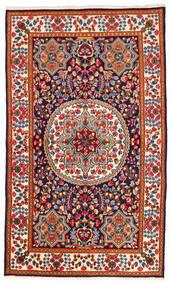 Kerman Covor 142X241 Orientale Lucrat Manual Bej/Roșu-Închis (Lână, Persia/Iran)