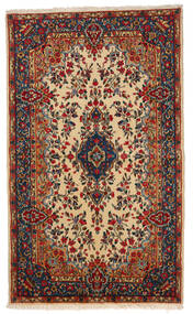 Kerman Covor 145X241 Orientale Lucrat Manual Roșu-Închis/Bej (Lână, Persia/Iran)