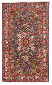 Kerman Covor 147X245 Orientale Lucrat Manual Negru/Ruginiu (Lână, Persia/Iran)