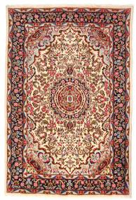 Kerman Covor 193X290 Orientale Lucrat Manual Bej/Roșu-Închis (Lână, Persia/Iran)