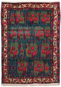 Afshar Covor 163X228 Orientale Lucrat Manual Roșu-Închis/Albastru Închis/Întuneric Turquoise (Lână, Persia/Iran)