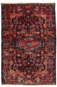 Nahavand Covor 152X245 Orientale Lucrat Manual Roșu-Închis/Negru (Lână, Persia/Iran)