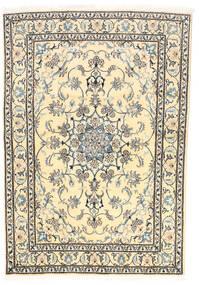 Nain Covor 165X239 Orientale Lucrat Manual Bej/Gri Închis (Lână, Persia/Iran)
