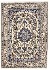 Nain Covor 162X228 Orientale Lucrat Manual Gri Deschis/Bej (Lână, Persia/Iran)
