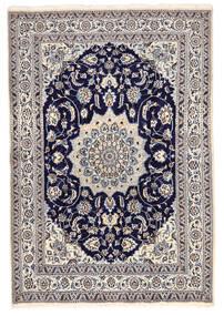 Nain Covor 168X246 Orientale Lucrat Manual Gri Închis/Gri Deschis (Lână, Persia/Iran)