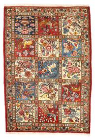 Bakthiari Collectible Covor 110X157 Orientale Lucrat Manual Gri Închis/Bej (Lână, Persia/Iran)