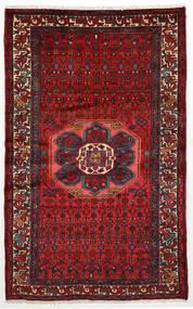 Hamadan Covor 130X208 Orientale Lucrat Manual Roșu-Închis/Negru (Lână, Persia/Iran)