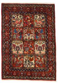Bakthiari Collectible Covor 106X150 Orientale Lucrat Manual Maro Închis/Roșu-Închis (Lână, Persia/Iran)