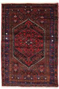 Zanjan Covor 138X205 Orientale Lucrat Manual Roșu-Închis/Maro Închis (Lână, Persia/Iran)