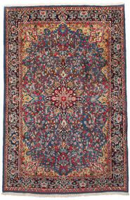 Kerman Covor 186X288 Orientale Lucrat Manual Roșu-Închis/Negru (Lână, Persia/Iran)