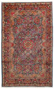 Kerman Covor 183X296 Orientale Lucrat Manual Maro Închis/Roșu-Închis (Lână, Persia/Iran)