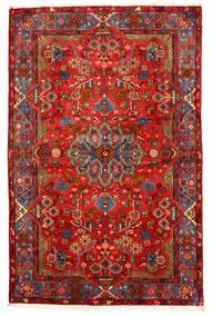 Nahavand Old Covor 155X238 Orientale Lucrat Manual Roșu-Închis/Maro Închis (Lână, Persia/Iran)