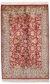 Kashmir Pură Mătase Covor 65X99 Orientale Lucrat Manual Roșu-Închis/Gri Deschis (Mătase, India)
