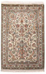 Kashmir Pură Mătase Covor 64X96 Orientale Lucrat Manual Gri Deschis/Bej (Mătase, India)