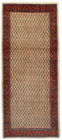 Sarouk Mir Covor 86X200 Orientale Lucrat Manual Maro Închis/Roșu-Închis (Lână, Persia/Iran)