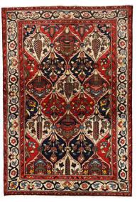 Bakthiari Covor 139X205 Orientale Lucrat Manual Roșu-Închis/Negru (Lână, Persia/Iran)