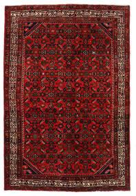 Hosseinabad Covor 136X203 Orientale Lucrat Manual Roșu-Închis/Ruginiu (Lână, Persia/Iran)