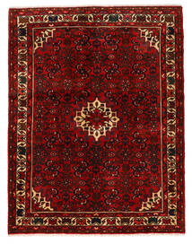 Hosseinabad Covor 150X193 Orientale Lucrat Manual Maro Închis/Roșu-Închis (Lână, Persia/Iran)