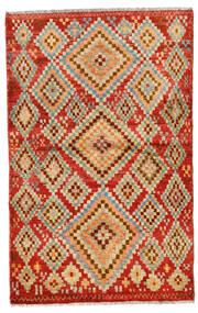 Moroccan Berber - Afghanistan Covor 109X174 Modern Lucrat Manual Roşu/Maro Deschis (Lână, Afganistan)