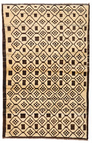 Moroccan Berber - Afghanistan Covor 110X173 Modern Lucrat Manual Bej/Maro Închis/Bej Închis (Lână, Afganistan)