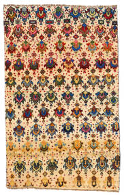 Moroccan Berber - Afghanistan Covor 114X184 Modern Lucrat Manual Bej/Bej Închis (Lână, Afganistan)