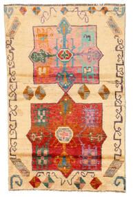 Moroccan Berber - Afghanistan Covor 116X180 Modern Lucrat Manual Maro Deschis/Bej (Lână, Afganistan)
