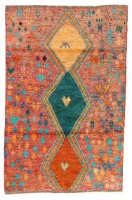 Moroccan Berber - Afghanistan Covor 114X175 Modern Lucrat Manual Roşu/Portocaliu (Lână, Afganistan)
