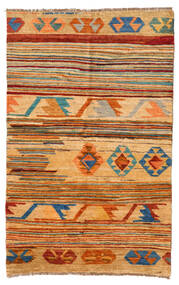 Moroccan Berber - Afghanistan Covor 116X181 Modern Lucrat Manual Maro Deschis/Bej Închis (Lână, Afganistan)