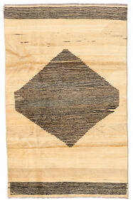 Moroccan Berber - Afghanistan Covor 115X181 Modern Lucrat Manual Bej/Bej Închis (Lână, Afganistan)
