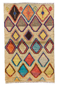 Moroccan Berber - Afghanistan Covor 85X133 Modern Lucrat Manual Bej Închis/Mov Închis (Lână, Afganistan)