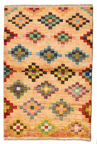 Moroccan Berber - Afghanistan Covor 89X133 Modern Lucrat Manual Bej Închis/Maro Deschis (Lână, Afganistan)