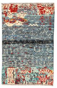 Moroccan Berber - Afghanistan Covor 89X140 Modern Lucrat Manual Gri Deschis/Albastru (Lână, Afganistan)