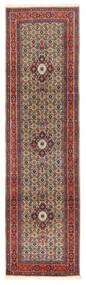 Moud Covor 80X294 Orientale Lucrat Manual Roșu-Închis/Maro Închis (Lână/Mătase, Persia/Iran)