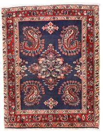 Sarouk Covor 75X96 Orientale Lucrat Manual Mov Închis/Roșu-Închis (Lână, Persia/Iran)