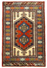 Turkaman Covor 61X93 Orientale Lucrat Manual Negru/Maro Închis (Lână, Persia/Iran)