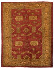 Oriental Overdyed Covor 144X183 Modern Lucrat Manual Maro Închis/Roșu-Închis/Bej (Lână, Persia/Iran)