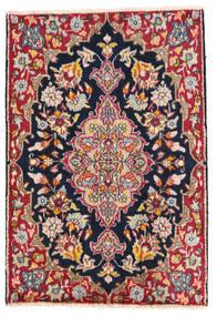 Kerman Covor 58X85 Orientale Lucrat Manual Gri Închis/Bej-Crem (Lână, Persia/Iran)
