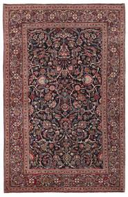 Kashan Covor 136X210 Orientale Lucrat Manual Roșu-Închis/Gri Închis (Lână/Mătase, Persia/Iran)