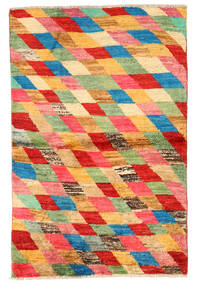 Moroccan Berber - Afghanistan Covor 91X142 Modern Lucrat Manual Roşu/Lumina Verde (Lână, Afganistan)