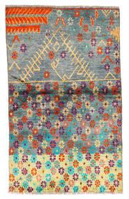 Moroccan Berber - Afghanistan Covor 85X142 Modern Lucrat Manual Gri Închis/Albastru Turcoaz (Lână, Afganistan)