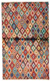 Moroccan Berber - Afghanistan Covor 85X142 Modern Lucrat Manual Maro Închis/Ruginiu (Lână, Afganistan)