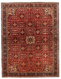 Hosseinabad Covor 149X218 Orientale Lucrat Manual Maro Închis/Roșu-Închis (Lână, Persia/Iran)