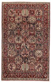 Bakthiari Covor 162X260 Orientale Lucrat Manual Roșu-Închis/Negru (Lână, Persia/Iran)