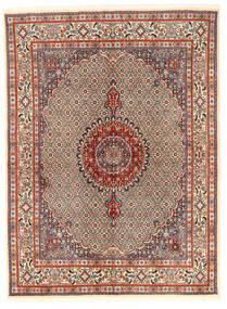 Moud Covor 167X226 Orientale Lucrat Manual Maro Deschis/Maro Închis (Lână/Mătase, Persia/Iran)