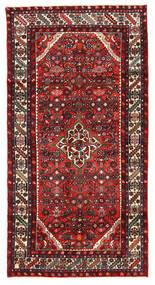 Hosseinabad Covor 122X238 Orientale Lucrat Manual Maro Închis/Roșu-Închis (Lână, Persia/Iran)