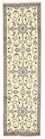 Nain Covor 80X275 Orientale Lucrat Manual Bej/Gri Deschis (Lână, Persia/Iran)