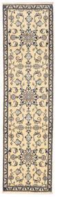 Nain Covor 77X287 Orientale Lucrat Manual Bej/Gri Deschis (Lână, Persia/Iran)